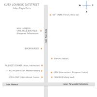 Kuta Lombok Eatstreet : Jalan Raya Kuta (part 1)